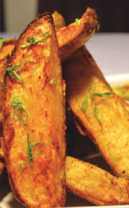 Crispy Potato Skin Wedges
