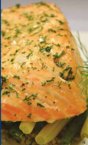Steamed-Salmon-with-Dill-Sauce